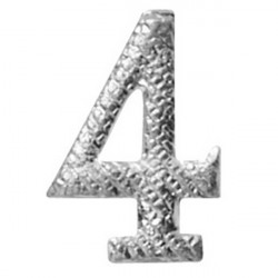 CHIFFRE METAL ARGT 10MM NO4
